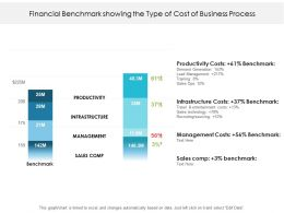 Financial Benchmark Showing The Type Of Cost Of Business Process