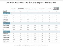 Financial Benchmark To Calculate Companys Performance