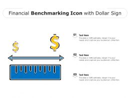 Financial Benchmarking Icon With Dollar Sign