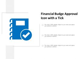 Financial Budge Approval Icon With A Tick