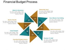 Financial Budget Process Powerpoint Shapes