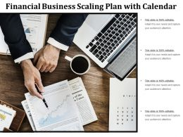 Financial Business Scaling Plan With Calendar