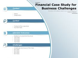 Financial Case Study For Business Challenges