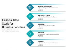 Financial Case Study For Business Concerns
