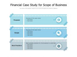 Financial Case Study For Scope Of Business