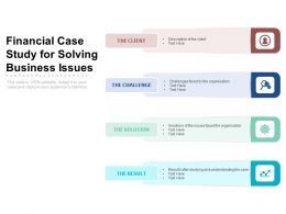 Financial Case Study For Solving Business Issues