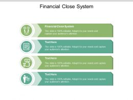 Financial Close System Ppt Powerpoint Presentation Professional Deck Cpb