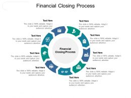 Financial Closing Process Ppt Powerpoint Presentation Pictures Cpb