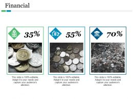 Financial Coins With Three Images Ppt Model Samples