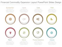 Financial Commodity Expansion Layout Powerpoint Slides Design