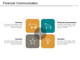 Financial Communication Ppt Powerpoint Presentation Infographic Template Inspiration Cpb