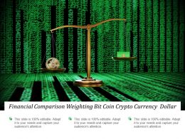 Financial Comparison Weighting Bit Coin Crypto Currency Dollar
