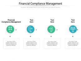 Financial Compliance Management Ppt Powerpoint Presentation Ideas Elements Cpb