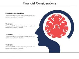 Financial Considerations Ppt Powerpoint Presentation File Slide Cpb
