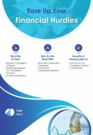 Financial Consultant Two Page Brochure