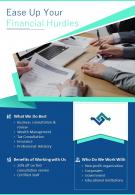 Financial Consulting And Advising Two Page Brochure Template