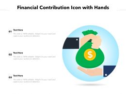 Financial Contribution Icon With Hands