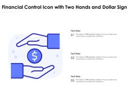 Financial Control Icon With Two Hands And Dollar Sign