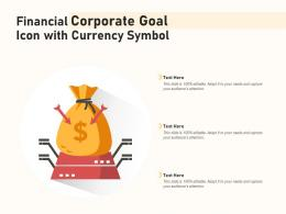 Financial Corporate Goal Icon With Currency Symbol