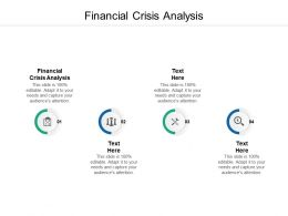 Financial Crisis Analysis Ppt Powerpoint Presentation Gallery Display Cpb