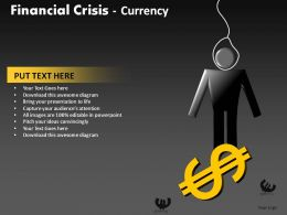 Financial Crisis Currency Powerpoint Presentation Slides