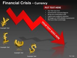 Financial Crisis Currency Powerpoint Presentation Slides db