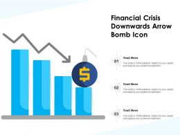 Financial Crisis Downwards Arrow Bomb Icon