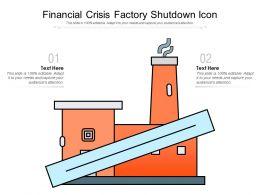 Financial Crisis Factory Shutdown Icon