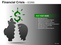 Financial Crisis Icons Powerpoint Presentation Slides db