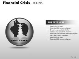 Financial Crisis Icons PPT 10 25