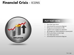 Financial Crisis Icons PPT 11 26