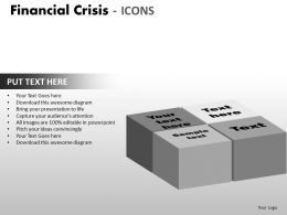 Financial Crisis Icons PPT 12 27