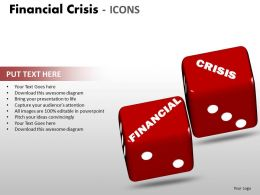 Financial Crisis Icons PPT 13 28