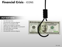 Financial Crisis Icons PPT 14 29