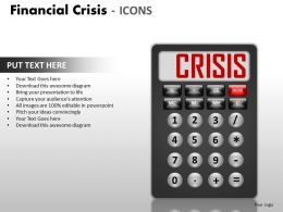 Financial Crisis Icons PPT 15 30