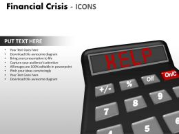 Financial Crisis Icons PPT 16 31