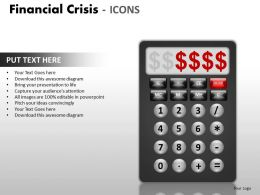 Financial Crisis Icons PPT 17 32