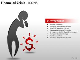 Financial Crisis Icons PPT 1 16