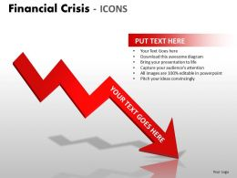 Financial Crisis Icons PPT 4 19