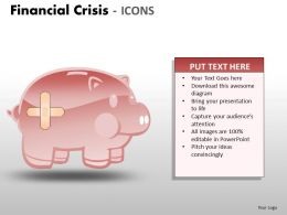 Financial Crisis Icons PPT 6 21