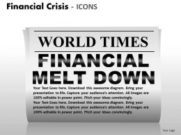 Financial Crisis Icons PPT 7 22