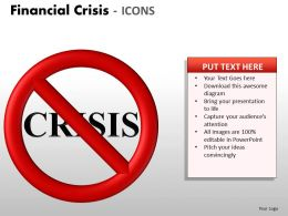 Financial Crisis Icons PPT 8 23