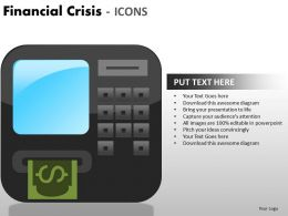 Financial Crisis Icons PPT 9 24