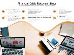 Financial Crisis Recovery Steps