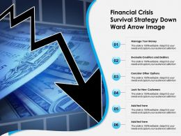 Financial Crisis Survival Strategy Down Ward Arrow Image