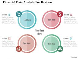 Financial Data Analysis For Business Flat Powerpoint Design