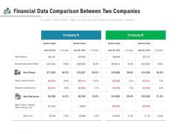 Financial Data Comparison Between Two Companies