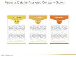 Financial Data For Analyzing Company Growth Powerpoint Show