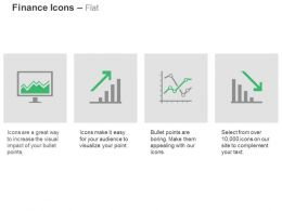 Financial Data Growth Graph Statistics Decline Graph Ppt Icons Graphics