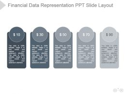 Financial Data Representation Ppt Slide Layout